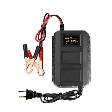 Romacci Carregador de bateria de chumbo-ácido inteligente para baterias automotivas 12V 20A para motocicleta automóvel automóvel LED