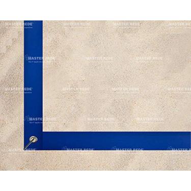 Imagem de Master Rede Marcação Fita Volei De Praia Profissional 5 cm, 6 peças, Azul