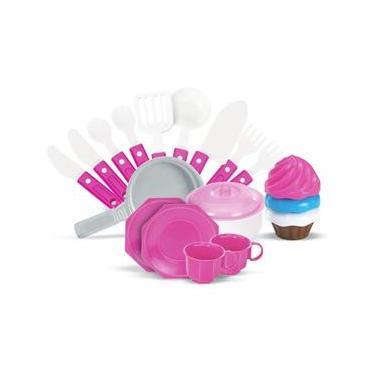 Imagem de cozinha Fogão Infantil Menina Cupcake com Som e Luzes Panela acessórios