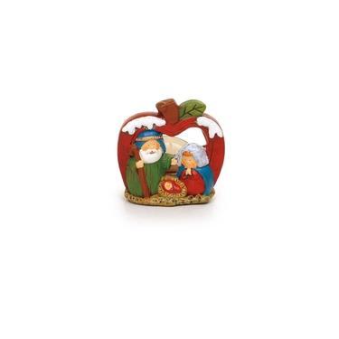 Presépio Sagrada Família Natal 8cm Colorido