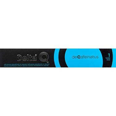 Cápsulas de Café Deqafeinatus - Descafeinado Delta Q, Compatível com Delta Q, Contém 10 Cápsulas