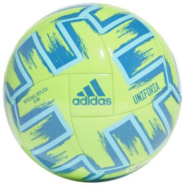 Bola de Campo Adidas Uniforia Club Euro 2020 FH7354, Cor: Verde/Azul, Tamanho: U