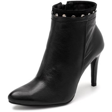 Bota Sandalo Feminina Clave De Fa Elis Preto  feminino