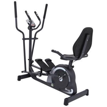 Bicicleta Ergométrica Magnética Horizontal E Vertical Dream Mag 5000 D Cinza Escuro