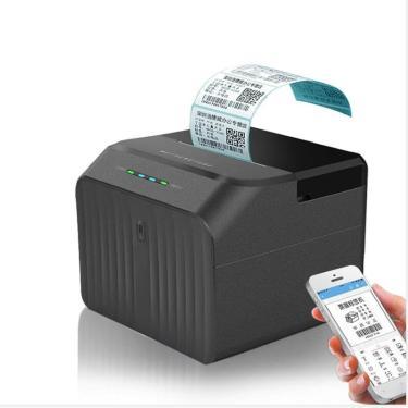 Imagem de Impressora de código de barras usb bluetooth, adesivo de recibo conta de barras impressão de código