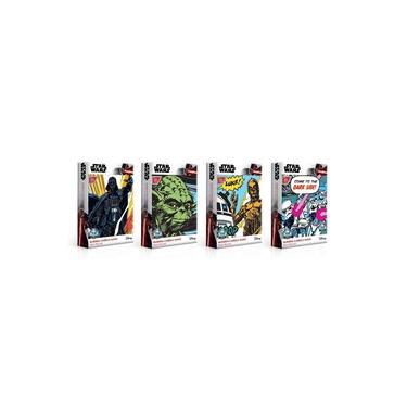 Imagem de Kit 4 Quebra-Cabeças Nano 500 Pçs cada - Star Wars -Toyster