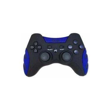Controle Joystick Sem Fio 4 in 1 PC PS1 PS2 PS3 Feir Fr-217 Azul