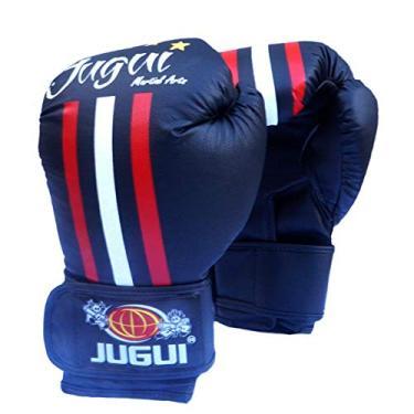 Luva De Boxe Muay Thai Combate Jugui - Estampada (Preto, 10 oz)