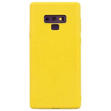 Shunda Capa para Galaxy Note 9, capa ultrafina macia de silicone TPU fosco à prova de choque, capa protetora para celular para Samsung Galaxy Note 9 de 6,5 polegadas - amarela