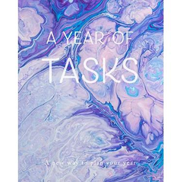 A Year of Tasks: Pastel Purple Swirls: A new way to plan your year (8 x 10 inches, 120 pages)