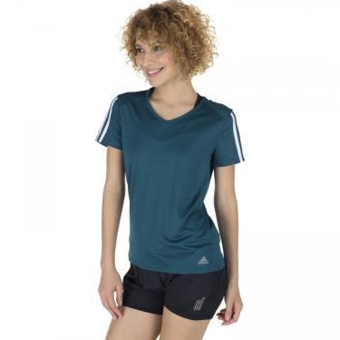 Camiseta adidas Running 3S - Feminina adidas Feminino