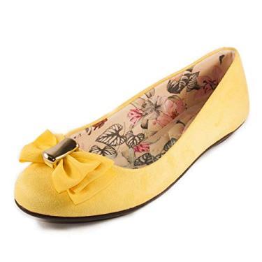 Sapatilha feminina Moleca amarelo - 50941376