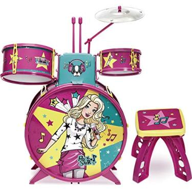 Imagem de Bateria Infantil Fabulosa Barbie Rosa