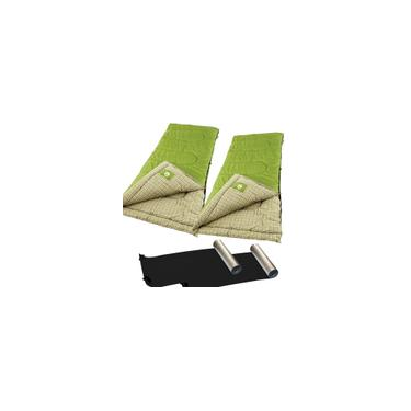 Imagem de 2 Sacos de Dormir Green Valley -1ºC Coleman + 2 Isolantes Térmicos Nautika
