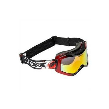 Óculos Texx Rider Mx Pro Para Capacete Motocross   Off Road - Vermelho C   Preto 8ae95cfe7b