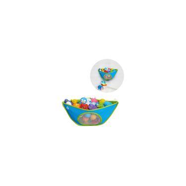Imagem de Organizador Brinquedos De Banho Bebe Infantil Azul Munchkin