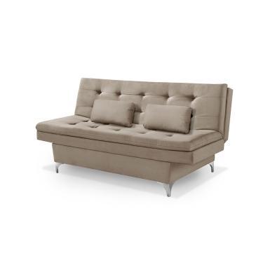 Sofá-cama 3 Lugares Casal Premium Grecco Suede 1.85m (L) - Bege