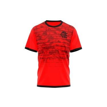 Camiseta Braziline Flamengo Scrull - Masculina - Vermelha