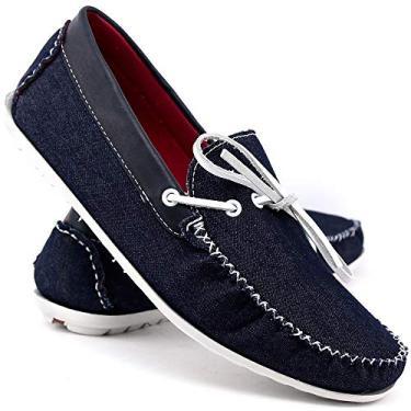 Imagem de Sapatenis Masculino Dockside Sapato Casual Social Mocassim Azul Escuro