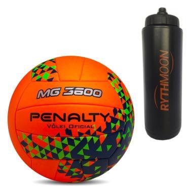c327e032a Kit Bola de Vôlei MG 3600 Fusion VIII Penalty Laranja Verde + Squeeze  Automático 1lt