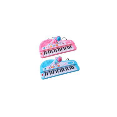 Imagem de 37 Chaves Teclado Eletrônico Infantil Piano Brinquedo Musical com Microfone para Brinquedos Infantis Presente de Instrumento Musical para Crianças