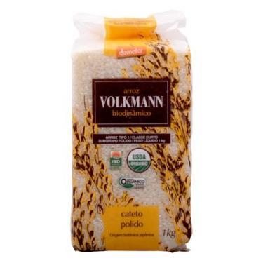 Arroz Cateto Polido Biodinâmico (Orgânico) 1Kg - Volkmann