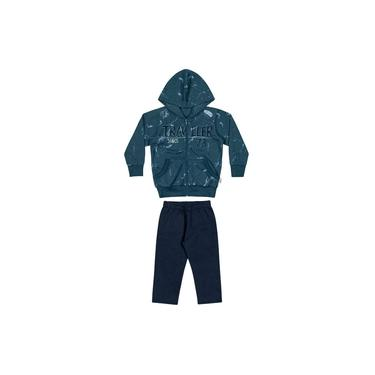 Conjunto Infantil Masculino Inverno Azul Traveller Elian