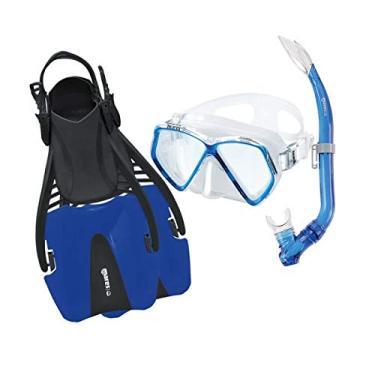 Kit de Mergulho Mares Coral Pirate Infantil - Azul - ML