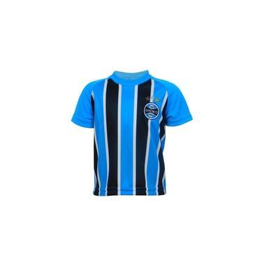 Camiseta Infantil Grêmio Menino Tricolor Manga Curta Azul