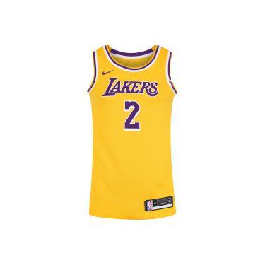 5ec7a1af779ec Camisa Regata Nike NBA Los Angeles Lakers Icon Edition Swingman - Masculina  - AMARELO ROXO