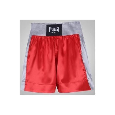 Shorts Muay Thai Vermelho com Prata ET20121A Everlast