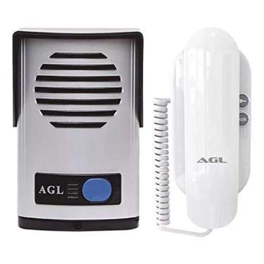 Imagem de Kit Interfone Porteiro Eletrônico AGL P10 S - Alimentação Externa