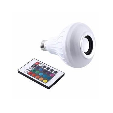 Lampada Led Colorida Com Controle Bluetooth Caixa De Som 12w