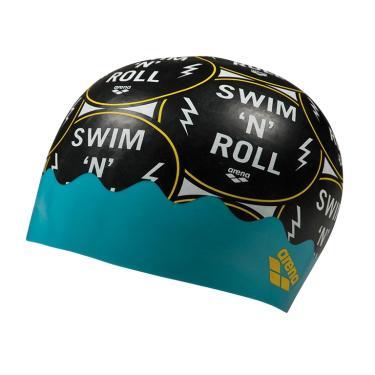 Touca de Natação Poolish Moulded Arena - Green Pins