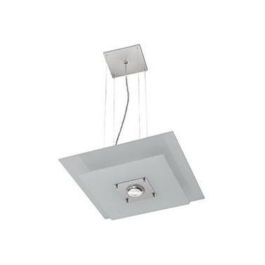 Pendente 31221 Alumínio/Vidro Cromado Vidro Branco - Pantoja&Carmona