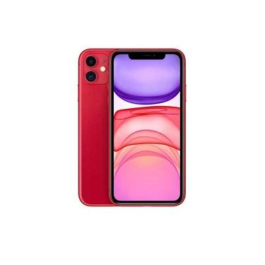 """iPhone 11 Vermelho, com Tela de 6,1"""", 4G, 64 GB e Câmera de 12 MP - MHDD3BR/A"""