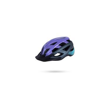 Imagem de Capacete Bike Asw Fun Roxo Com Luz Segurança Para Bicicleta