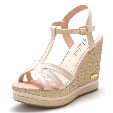 Sandália SB Shoes Anabela ref.3230 Amêndoa  feminino