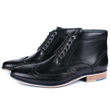 Bota Masculina Ankle Boot Couro Preto Savelli  masculino
