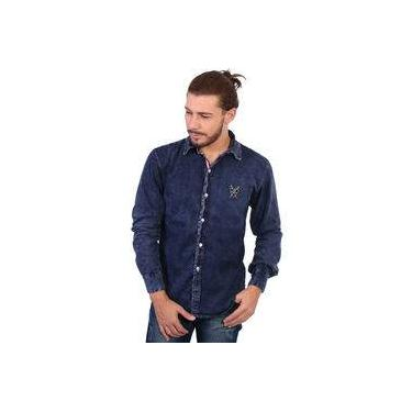 e7cef07dd9 Camisa Manga Longa Polo Super Stone Jeans Escuro