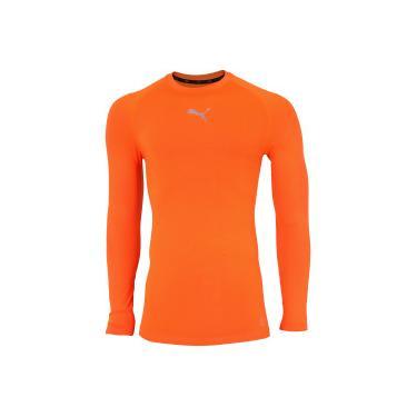 Camiseta Manga Longa Puma Baselayer LS - Masculina - LARANJA Puma 9a0620a703f