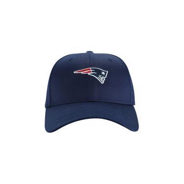 4b2ebf6ab59d7 Boné Aba Curva New Era 940 New England Patriots - Snapback - Adulto - AZUL  ESCURO