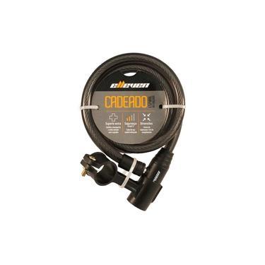 Cadeado Elleven Cabo Aço 1mt X 12mm P/ Bike Moto Chaves