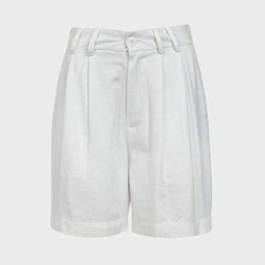 Short Feminino Slouch Collab Yan Acioli - Off White G