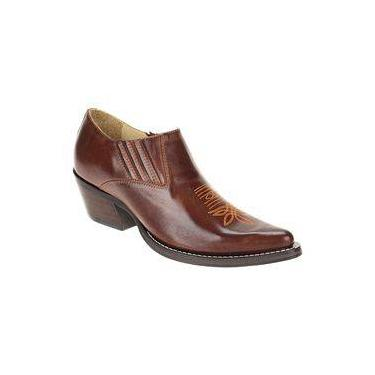 Bota Texana Cano Curto Masculina Café - West Country 9a6ebb458ab