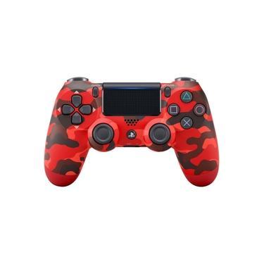 Joystick Sem Fio Dualshock 4 para PS4 Camuflagem Vermelho Sony CUH-ZCT2U