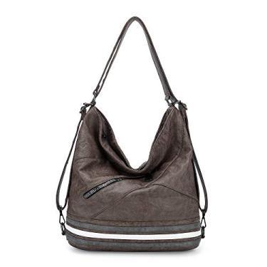 Hobo Bolsas de mão para mulheres, bolsas grandes de ombro, alça superior, Taupe/Grey