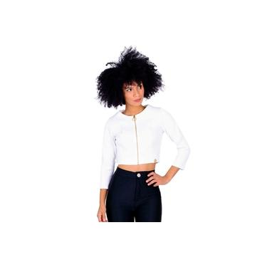Jaqueta Miss Misses Cropped Off-White