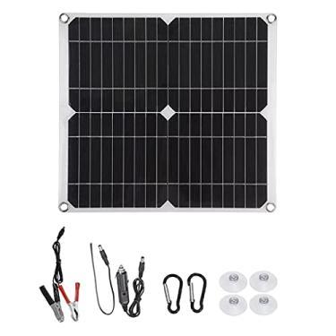 LOVIVER Kit de painel solar 100 W Carregador de bateria Sistema off-grade para casas Barco RV + Controlador de carga solar + Suprimentos de kit de cabos - 1Set