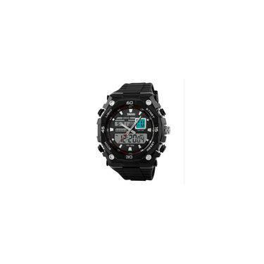 7b224191e07 Relógio Masculino Skmei Anadigi 1092 Pt-Pr